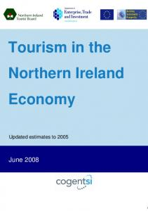 Tourism in the Northern Ireland Economy