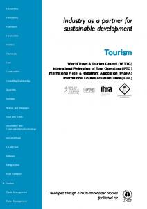 Tourism. Industry as a partner for sustainable development