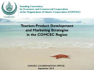 Tourism Product Development and Marketing Strategies in the COMCEC Region