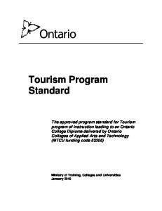 Tourism Program Standard
