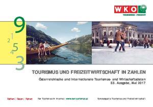 TOURISMUS UND FREIZEITWIRTSCHAFT IN ZAHLEN