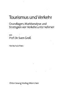Tourismus und Verkehr
