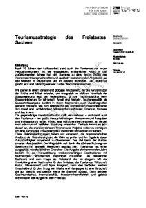 Tourismusstrategie des Freistaates Sachsen
