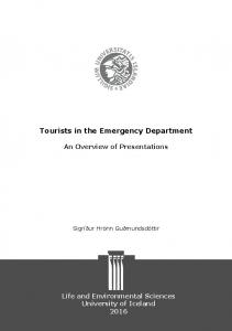 Tourists in the Emergency Department