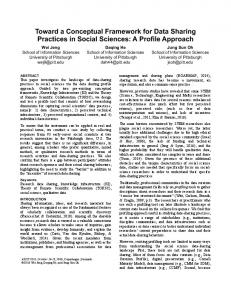 Toward a Conceptual Framework for Data Sharing Practices in Social Sciences: A Profile Approach