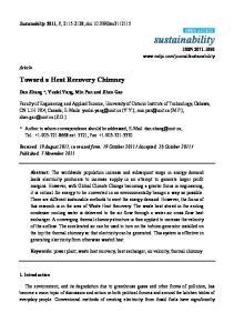 Toward a Heat Recovery Chimney