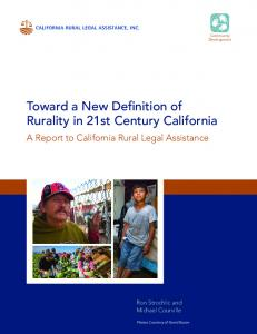 Toward a New Definition of Rurality in 21st Century California