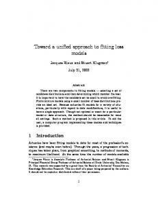 Toward a unified approach to fitting loss models