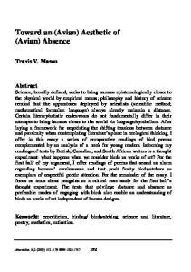 Toward an (Avian) Aesthetic of (Avian) Absence