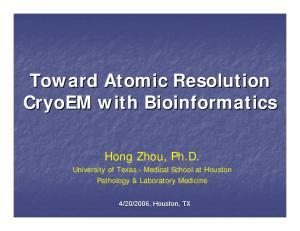 Toward Atomic Resolution CryoEM with Bioinformatics