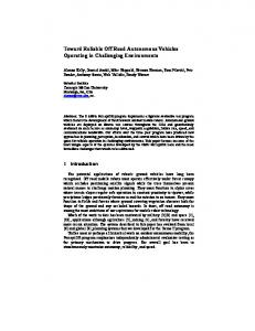 Toward Reliable Off Road Autonomous Vehicles Operating in Challenging Environments