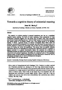 Towards a cognitive theory of existential meaning