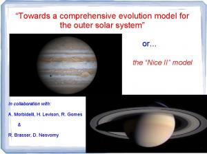 Towards a comprehensive evolution model for the outer solar system