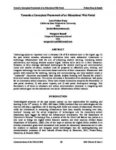 Towards a Conceptual Framework of an Educational Web Portal