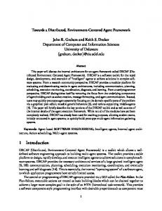 Towards a Distributed, Environment-Centered Agent Framework