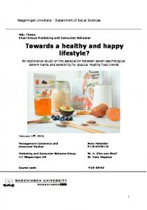 Towards a healthy and happy lifestyle?