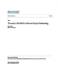Towards a Model for Software Project Estimating