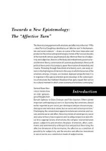 Towards a New Epistemology: The Affective Turn