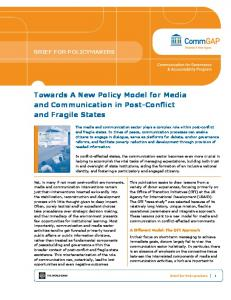Towards A New Policy Model for Media and Communication in Post-Conflict and Fragile States