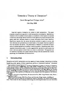 Towards a Theory of Deception