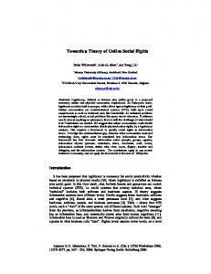 Towards a Theory of Online Social Rights