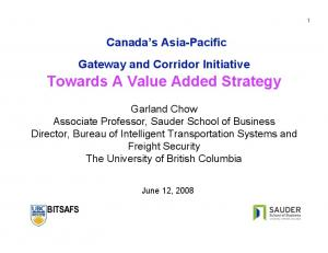 Towards A Value Added Strategy
