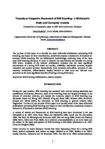 Towards an Integrative Framework of B2B Branding A Bibliometric Study and Conceptual Analysis
