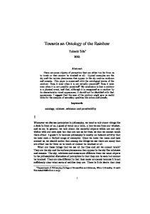 Towards an Ontology of the Rainbow