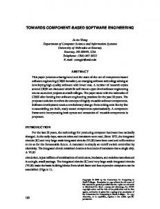 TOWARDS COMPONENT-BASED SOFTWARE ENGINEERING