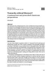 Towards critical literacy?