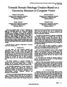 Towards Domain Ontology Creation Based on a Taxonomy Structure in Computer Vision