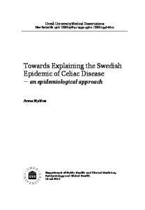 Towards Explaining the Swedish Epidemic of Celiac Disease