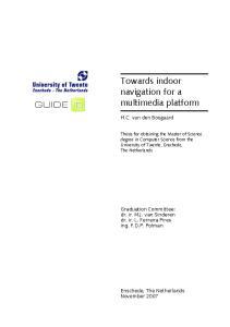Towards indoor navigation for a multimedia platform