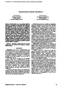 Towards Patient-Centered Telemedicine