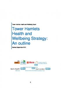 Tower Hamlets Health and Wellbeing Board. Tower Hamlets Health and Wellbeing Strategy: An outline