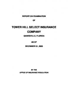 TOWER HILL SELECT INSURANCE COMPANY