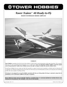 Tower Trainer 40 Ready-to-Fly RADIO CONTROLLED MODEL AIRPLANE
