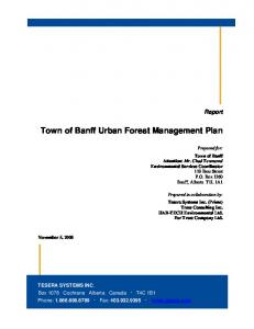 Town of Banff Urban Forest Management Plan