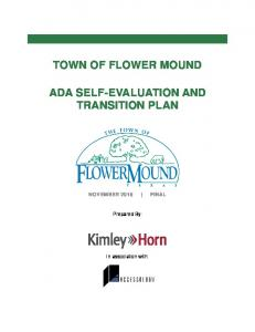 TOWN OF FLOWER MOUND ADA SELF-EVALUATION AND TRANSITION PLAN