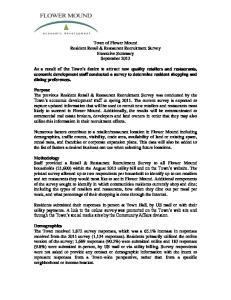 Town of Flower Mound Resident Retail & Restaurant Recruitment Survey Executive Summary September 2013