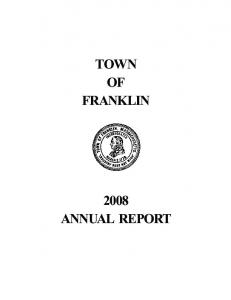 TOWN OF FRANKLIN 2008 ANNUAL REPORT