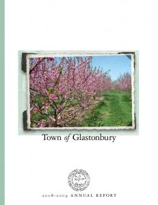 Town of Glastonbury Annual Report ANNUAL REPORT