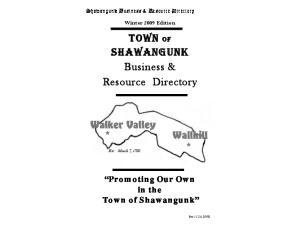 TOWN OF SHAWANGUNK Business & Resource Directory