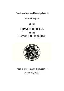 TOWN OFFICERS TOWN OF BOURNE