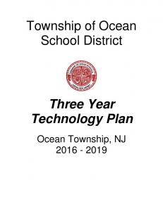 Township of Ocean School District. Three Year Technology Plan