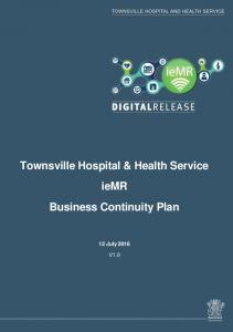 Townsville Hospital & Health Service iemr Business Continuity Plan 12 July 2016