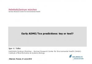 Tox predictions: toy or tool?