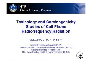 Toxicology and Carcinogenicity Studies of Cell Phone Radiofrequency Radiation