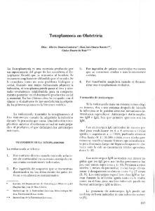 Toxoplasmosis en Obstetricia