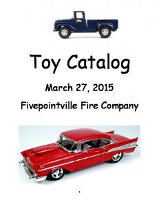 Toy Catalog. March 27, 2015 Fivepointville Fire Company